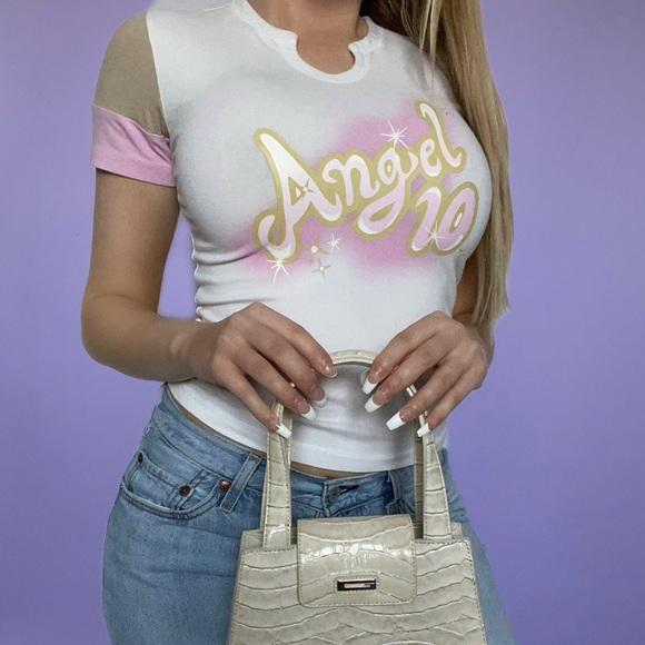 ❌SOLD-DEPOP❌ Angel Vintage Y2K Baby Tee